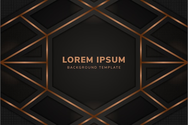 Luxury dark background with horizontal layout brown line gradient and transparency dot pattern elements
