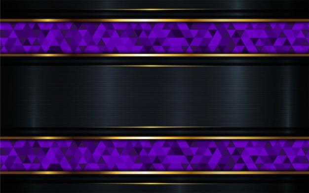 紫色のモザイクと豪華な暗い背景。