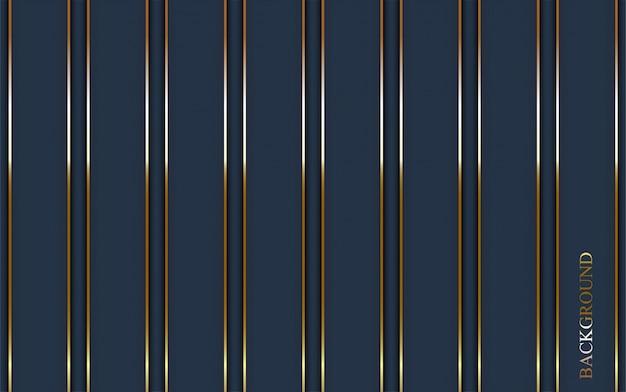 ゴールドラインと豪華な暗い青色の背景。