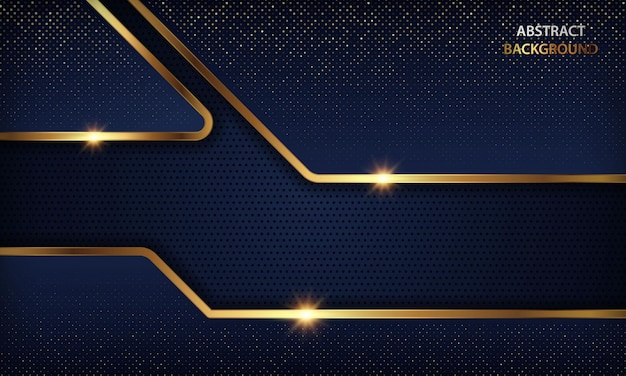Luxury dark blue with golden lines and sparkling effect