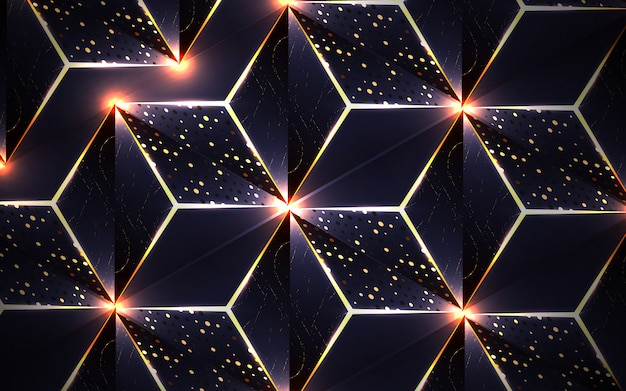 Luxury dark blue   with triangle and glitters decoration background
