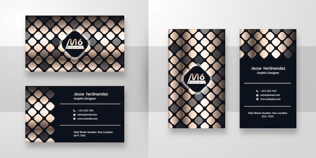 Luxury dark business card template