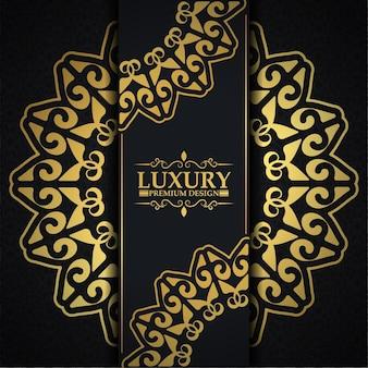 Luxury dark floral ornament background