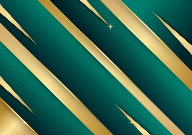 豪華なダークグリーンとゴールドの抽象的な背景