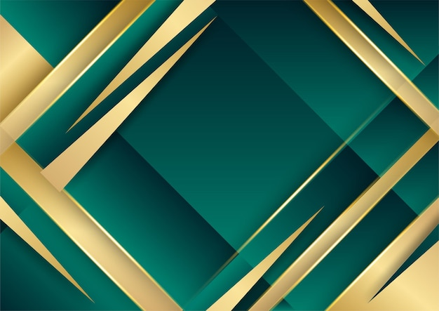Luxury dark green and gold abstract background