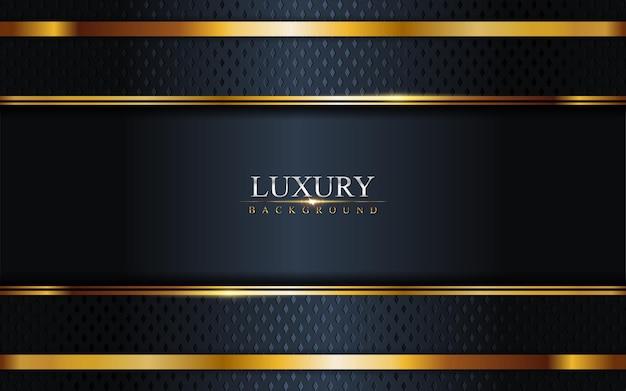 Luxury dark navy combination with golden lines background . graphic  element.