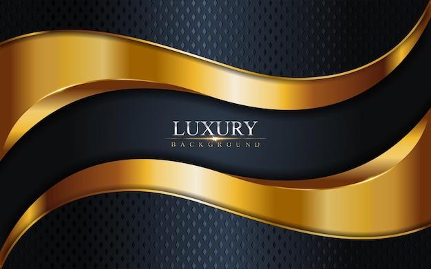 Luxury dark navy combination with golden lines background . graphic  element.