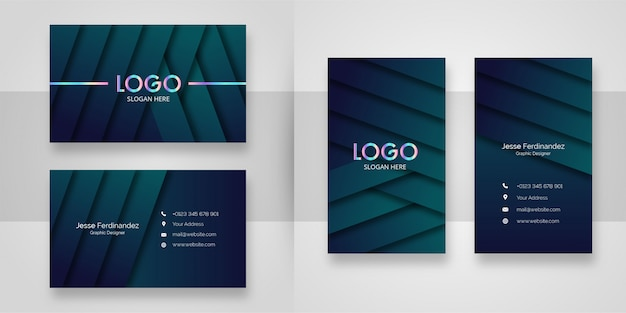 Luxury dark pattern business card template