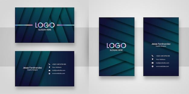 Luxury dark pattern business card template