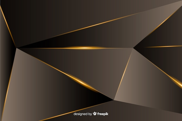 Luxury dark polygonal background