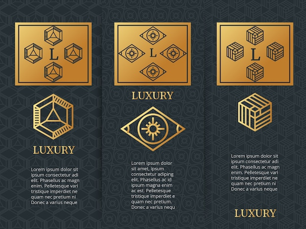 Luxury design brochure flyers template