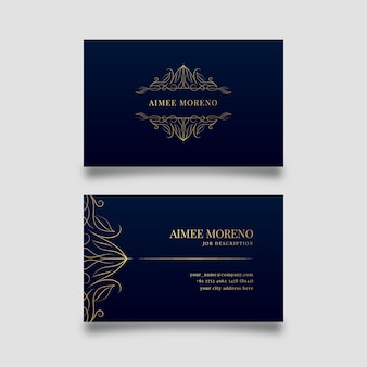 Luxury design for business card template