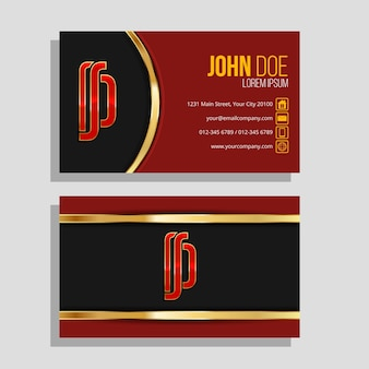 Luxury design for business card