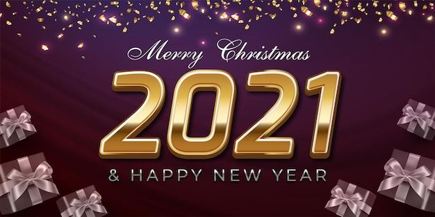 Luxury design happy new year 2022 editable text number