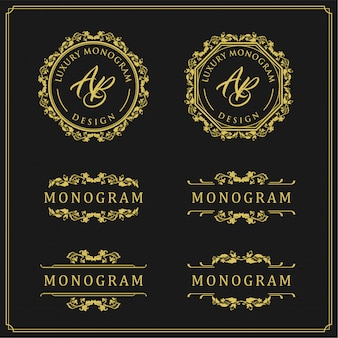 Luxury design set for wedding and decoration