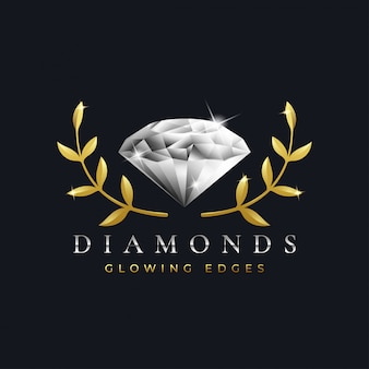 Luxury diamond logo design template