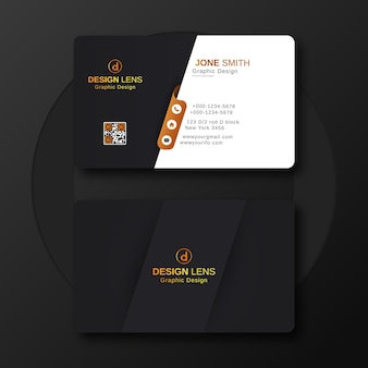 Шаблон роскошной цифровой корпоративной визитки Premium векторы
