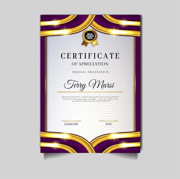 Luxury diploma certificate archievement template