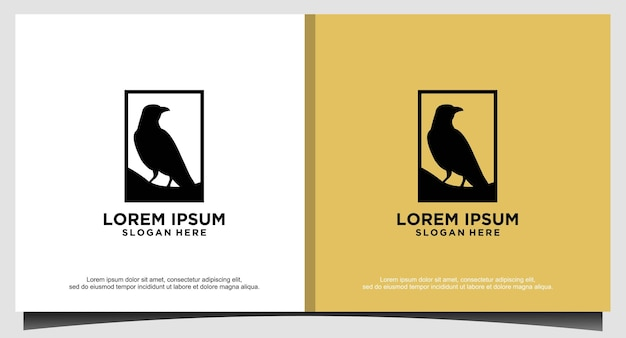 Luxury dove bird logo design template