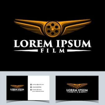 Luxury drone fly film logo