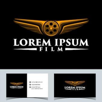 Luxury drone fly film logo