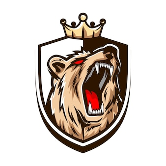 Luxury and e-sport style bear logo