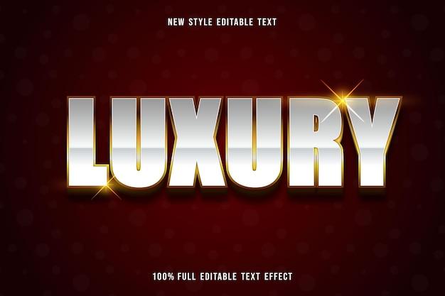 Luxury editable text effect elegant style