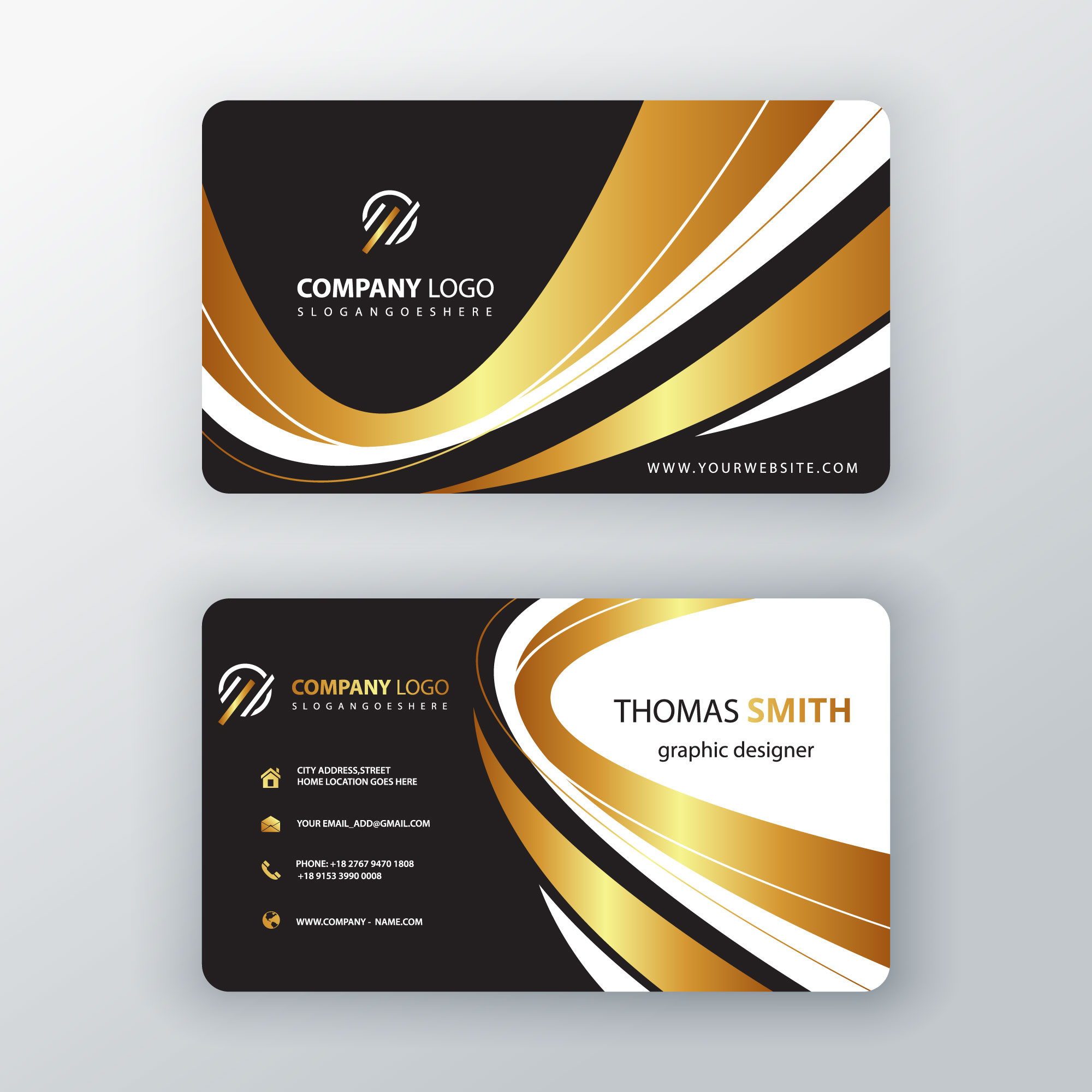 Luxury elegant business cardornament swirl visit card