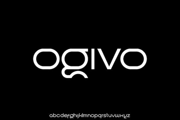 Luxury and elegant font display alphabet