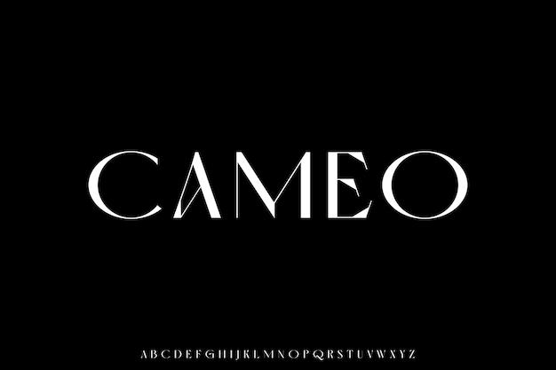 Luxury and elegant font glamour style
