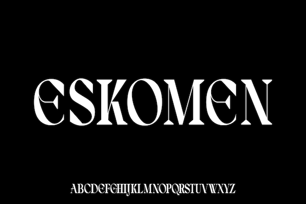 The luxury and elegant font glamour style