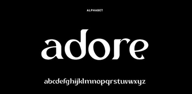 Luxury and elegant font style