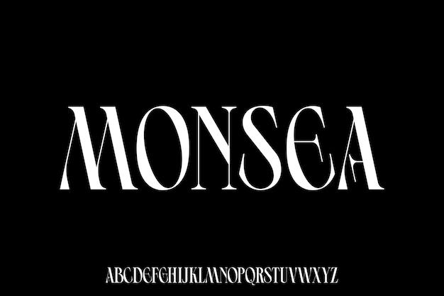 Luxury and elegant font vector