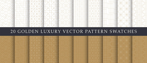Luxury elegant geometric  patterns pack