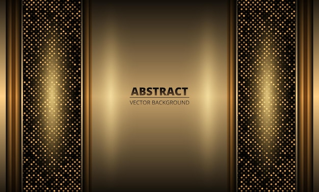 Роскошный элегантный золотой железный фон с блестками из точек