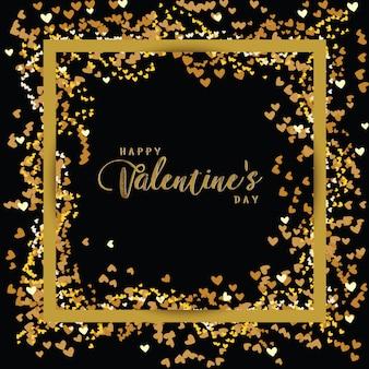 Роскошный элегантный счастливый день святого валентина праздничный блеск шаблон макета
