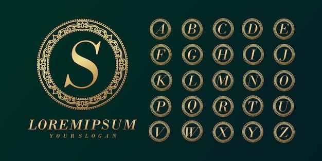 Роскошный элегантный шаблон логотипа начальной буквы