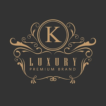 Роскошный элегантный винтажный логотип