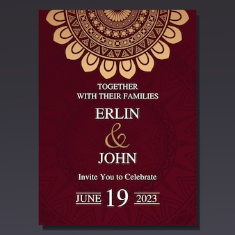 Luxury and elegant wedding invitation card
