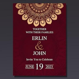 Luxury and elegant wedding invitation card