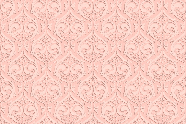 Luxury ethnic carvings seamless pattern with shadow