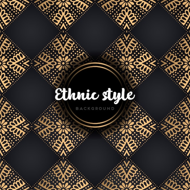 Luxury ethnic design seamless pattern