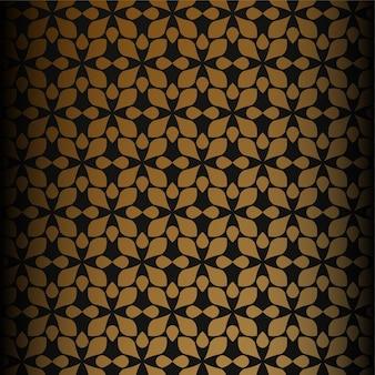 럭셔리 민족 스타일 장식 원활한 패턴