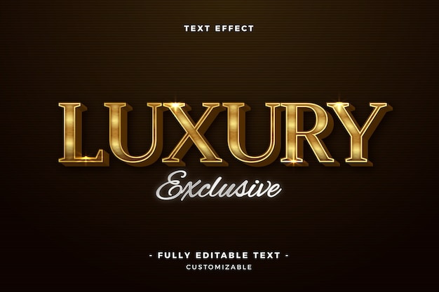Luxury exclusive text effect
