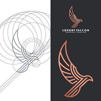 Luxury falcon logo