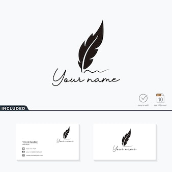 Luxury feather logo