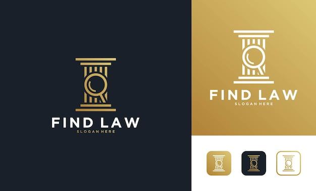 Дизайн логотипа юридической фирмы luxury find