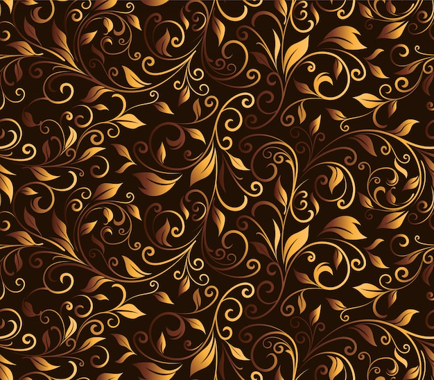 Luxury floral carving seamless pattern