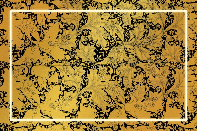 Luxury floral frame remix from artwork by william morris