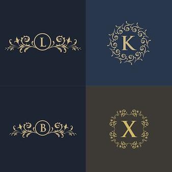 Luxury floral logo